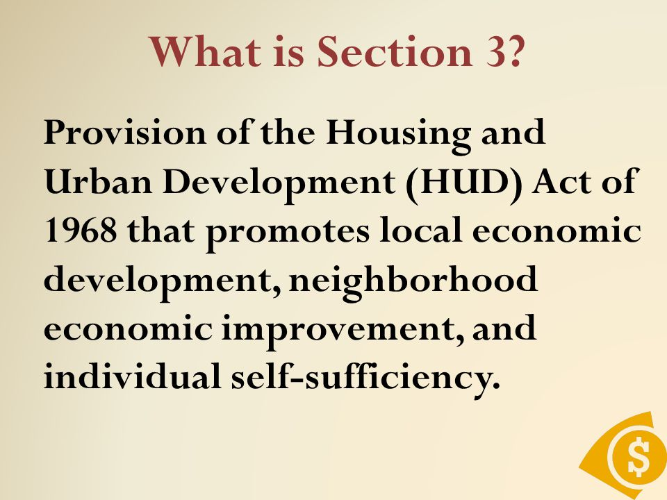 What is Section 3