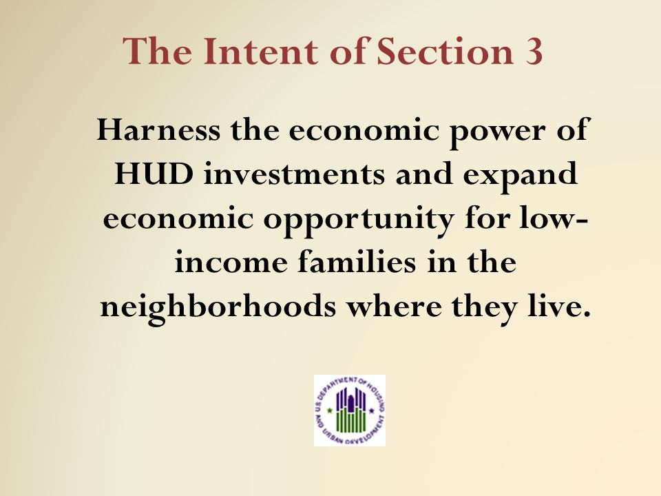 The Intent of Section 3