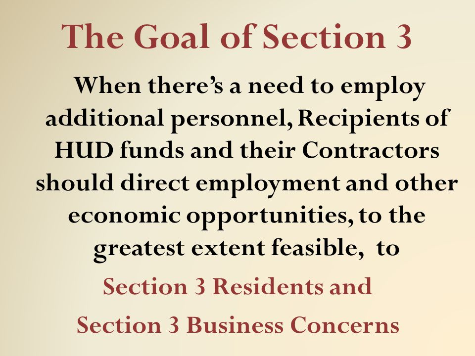 Section 3 Business Concerns