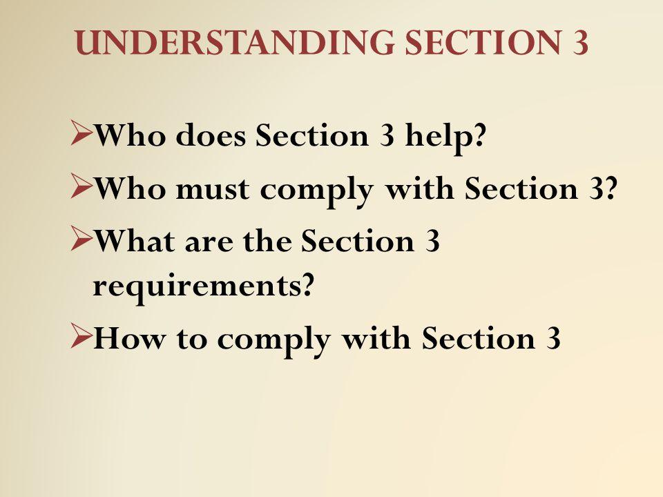 UNDERSTANDING SECTION 3