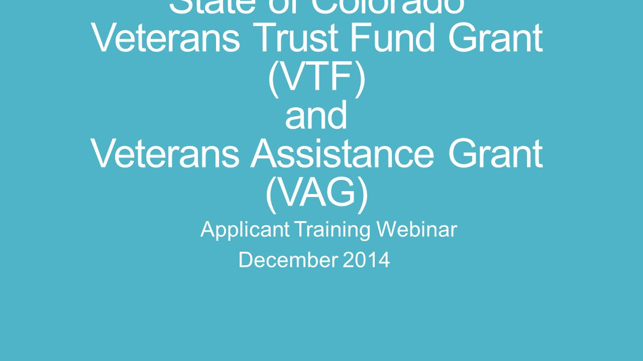 Applicant Training Webinar December 2014