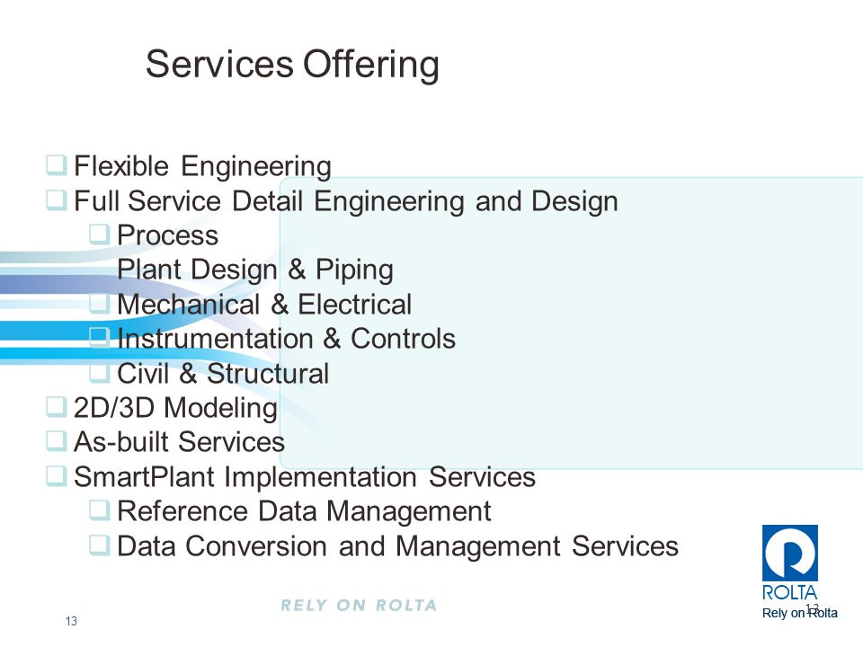 Services Offering Flexible Engineering