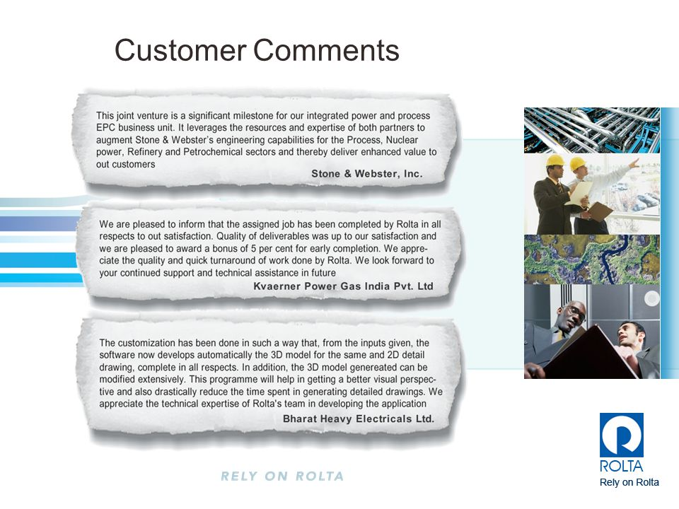 Customer Comments • 5,000 employees growing to 7,500 in March 2008