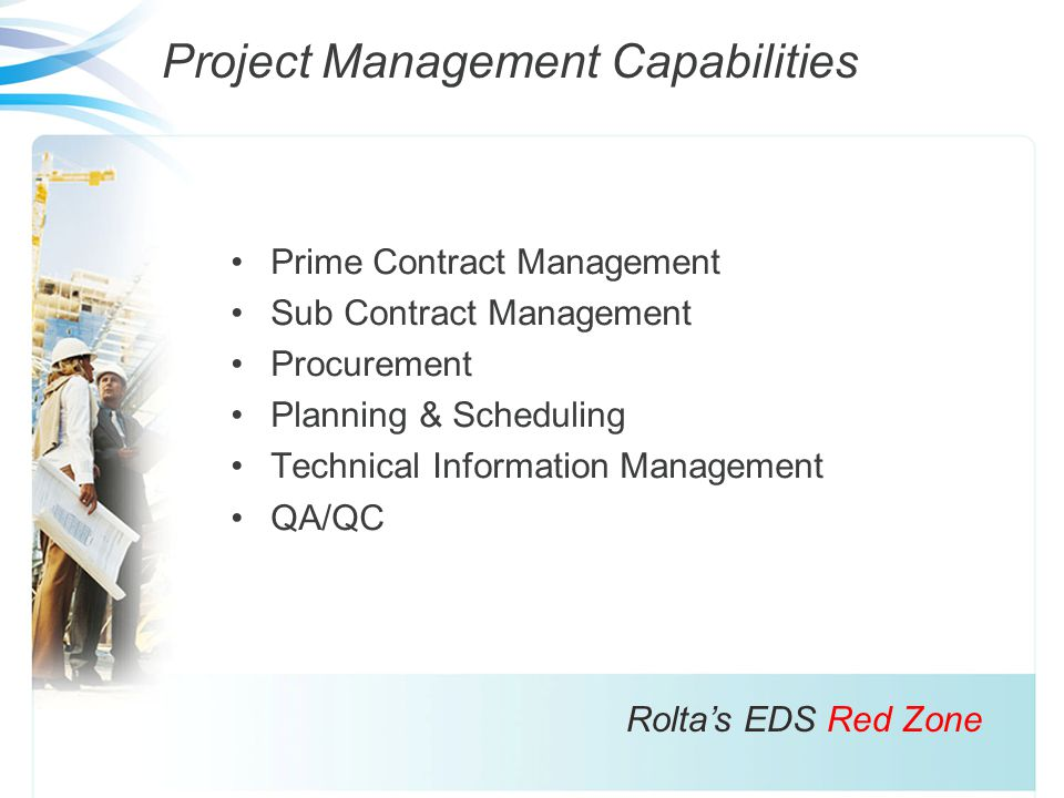 Project Management Capabilities