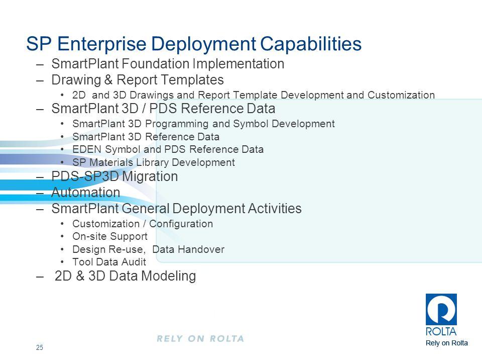 SP Enterprise Deployment Capabilities