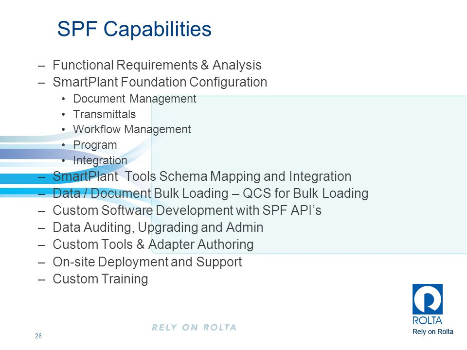 SPF Capabilities Functional Requirements & Analysis