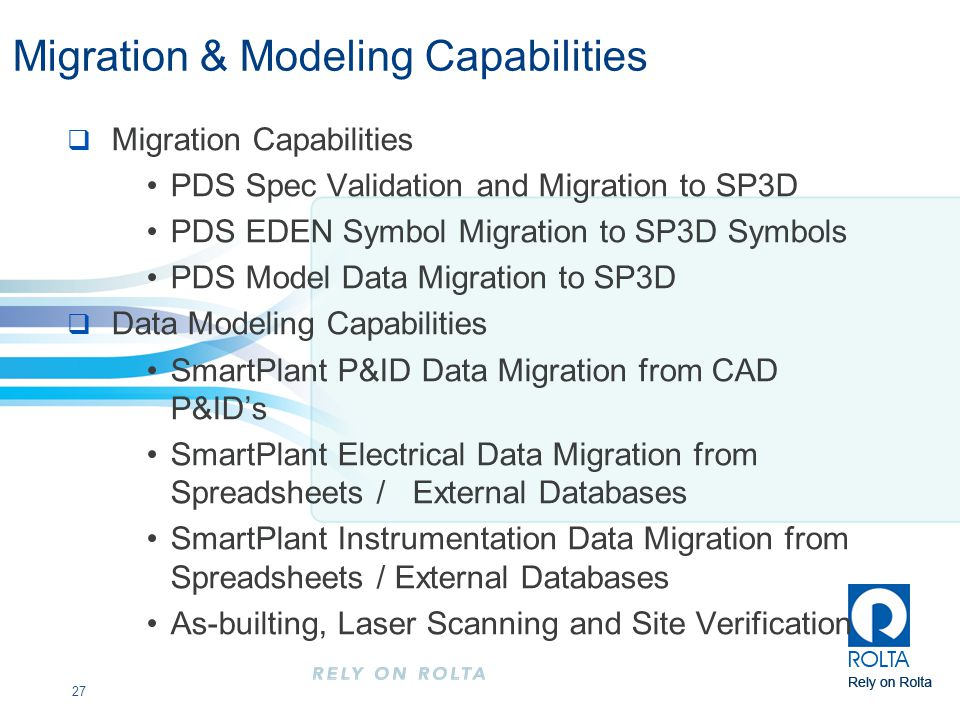 Migration & Modeling Capabilities