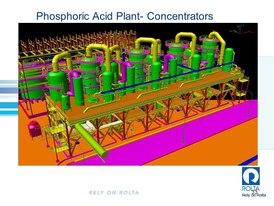 Phosphoric Acid Plant- Concentrators