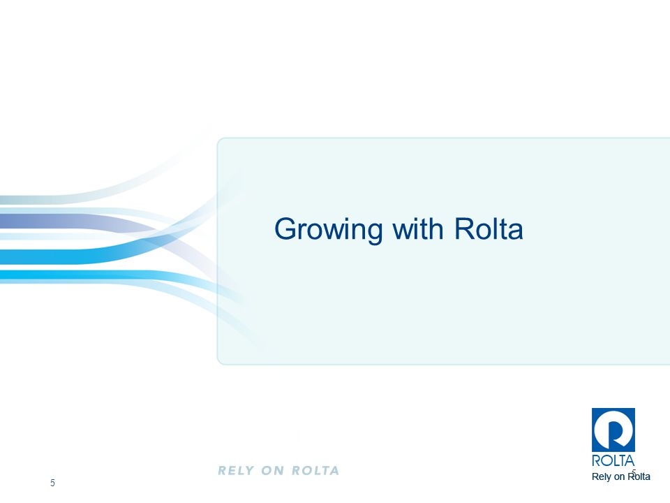 Growing with Rolta 5