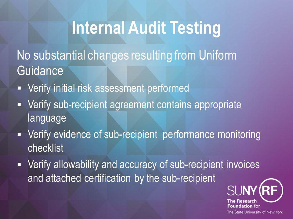 Internal Audit Testing