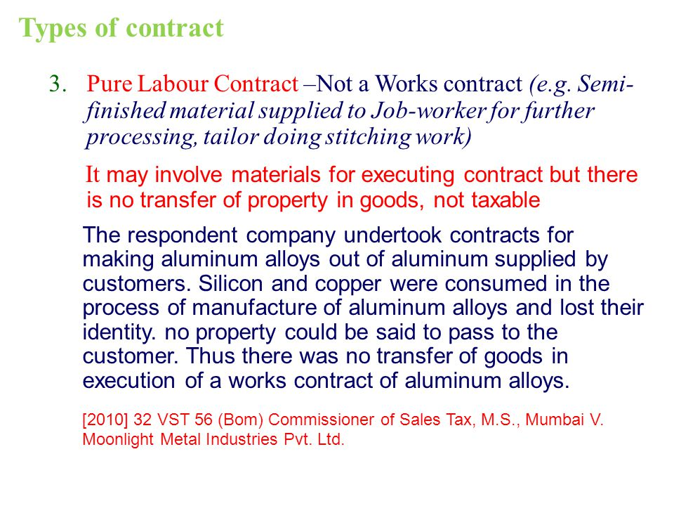 Types of contract