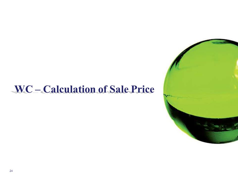 WC – Calculation of Sale Price