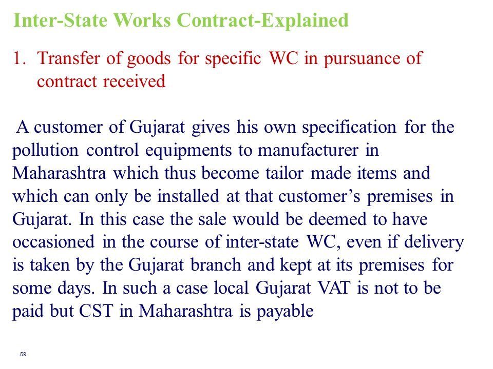 Inter-State Works Contract-Explained