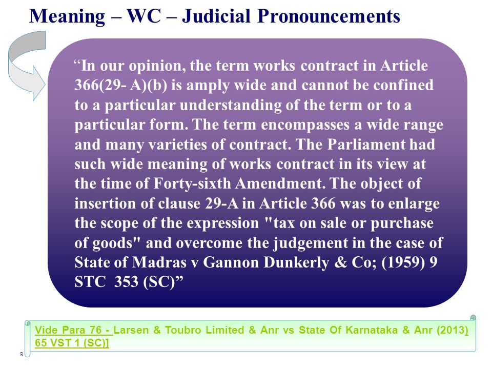 Meaning – WC – Judicial Pronouncements