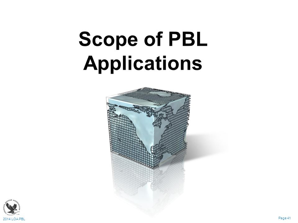 Scope of PBL Applications