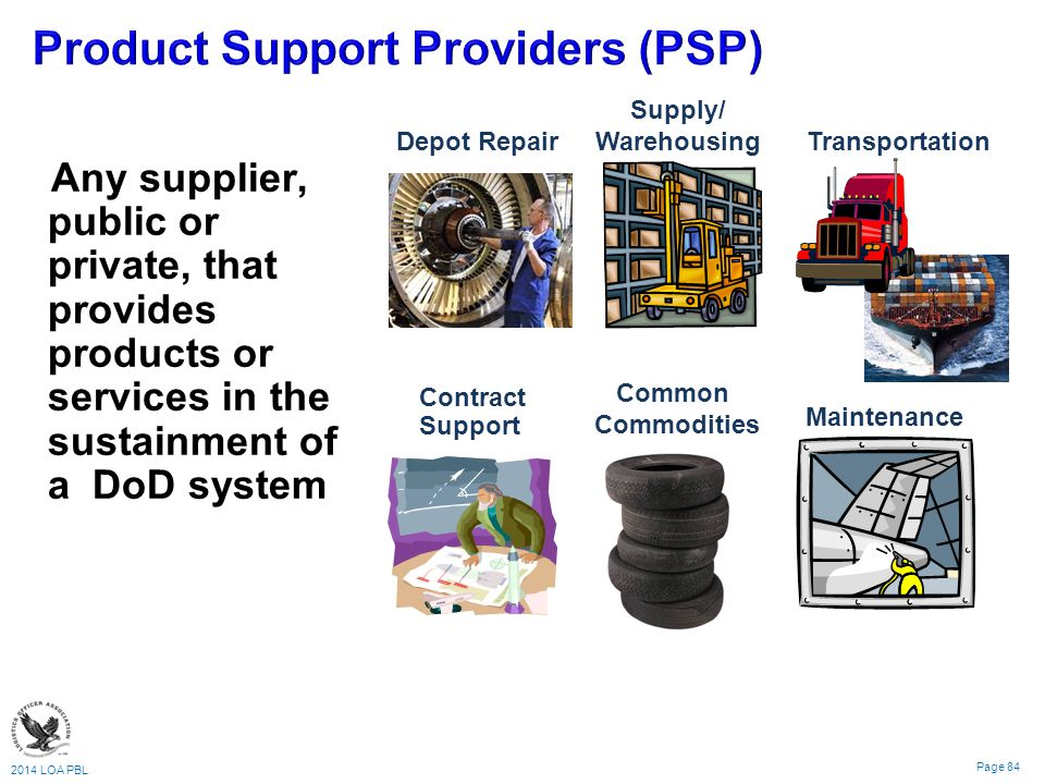 Product Support Providers (PSP)