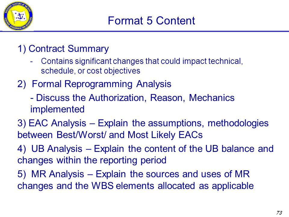 Format 5 Content 1) Contract Summary Formal Reprogramming Analysis