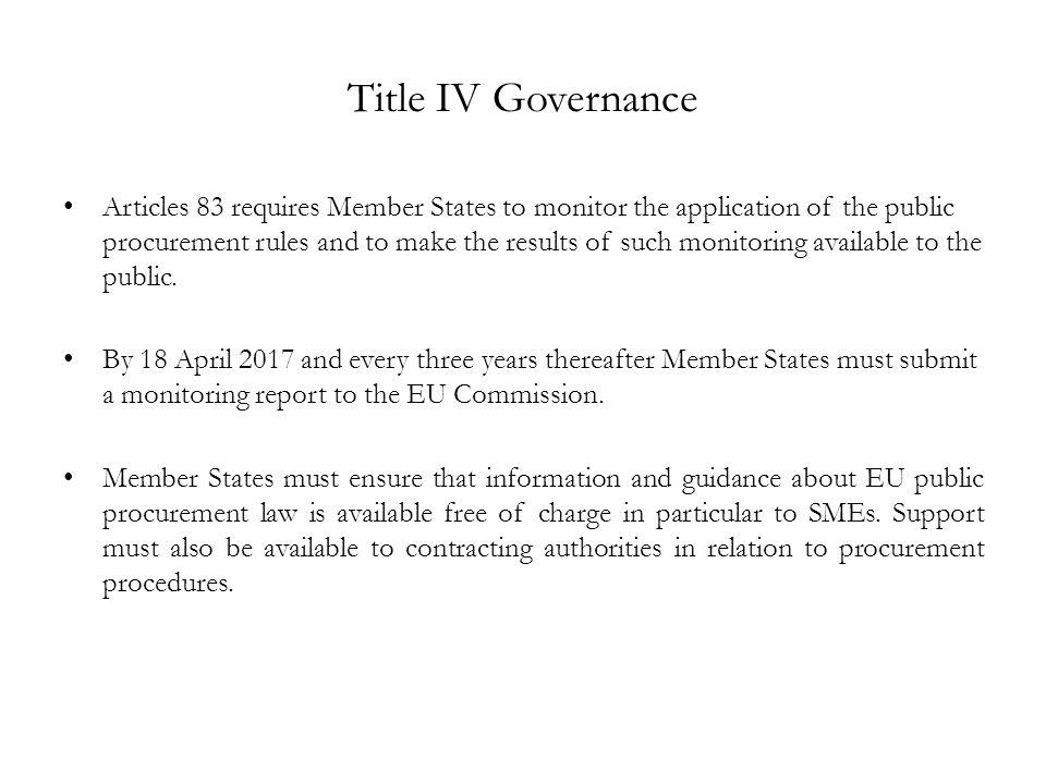 Title IV Governance