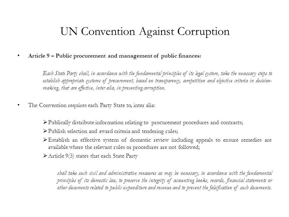 UN Convention Against Corruption