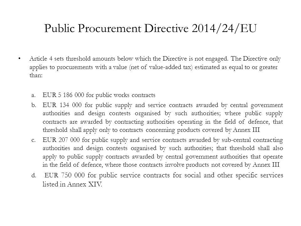 Public Procurement Directive 2014/24/EU