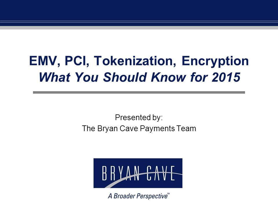 EMV, PCI, Tokenization, Encryption What You Should Know for 2015