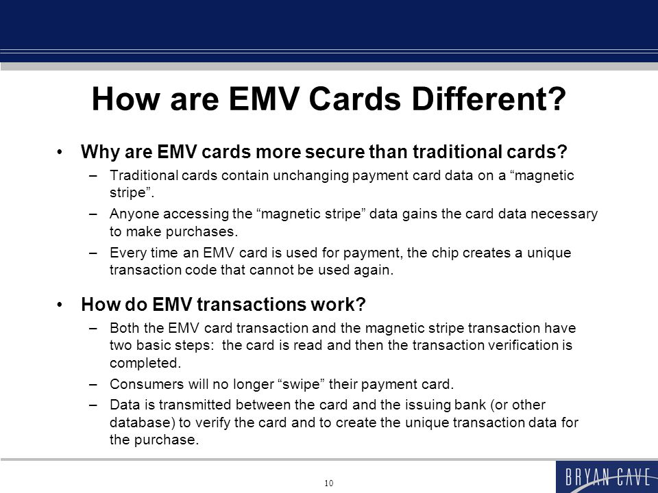 How are EMV Cards Different