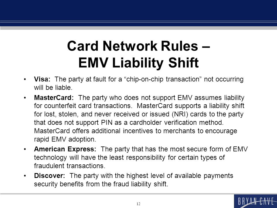 Card Network Rules – EMV Liability Shift