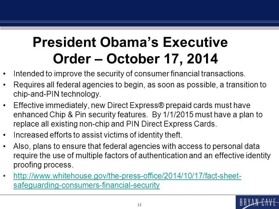 President Obama's Executive Order – October 17, 2014