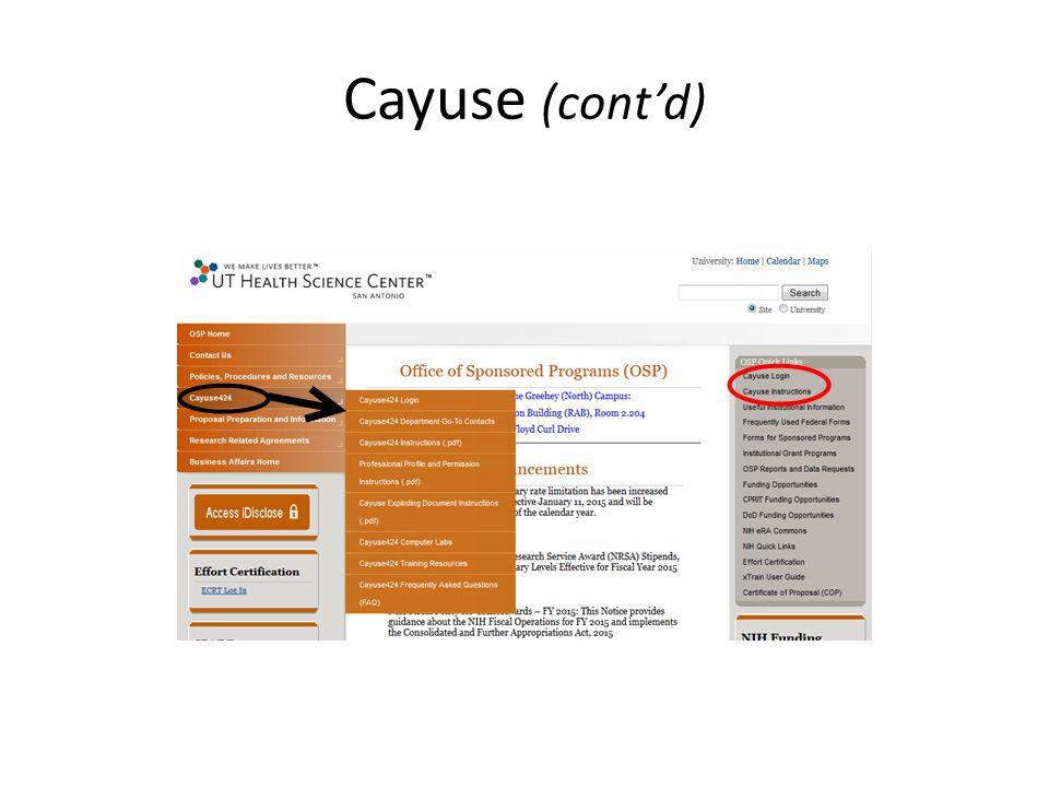 Cayuse (cont'd)