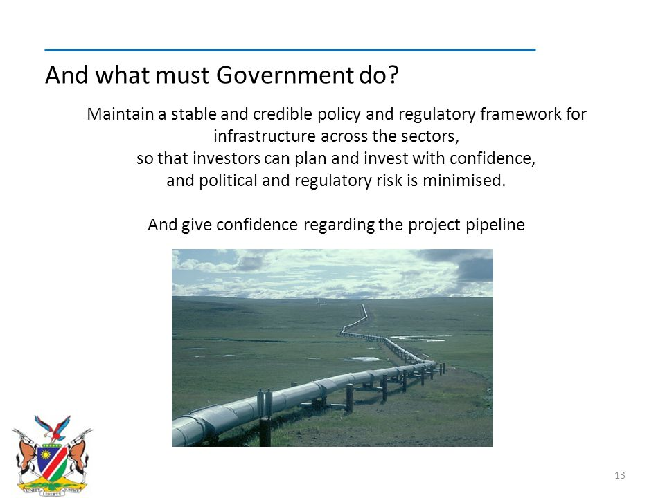 And give confidence regarding the project pipeline