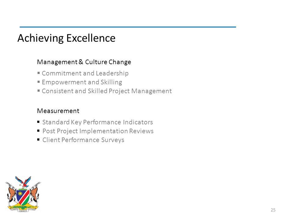 Achieving Excellence Management & Culture Change