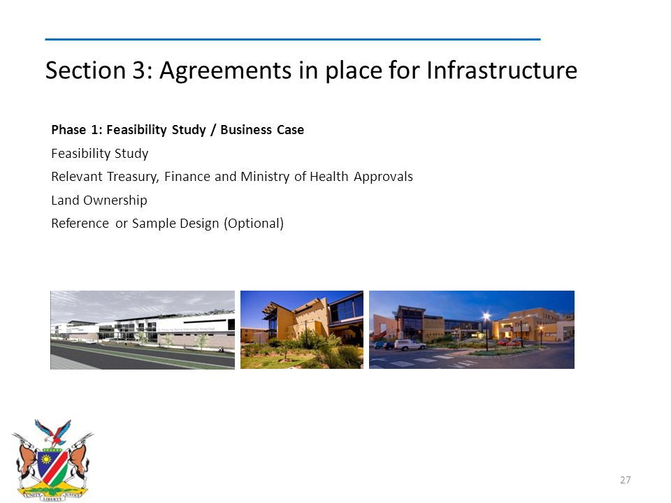 Section 3: Agreements in place for Infrastructure