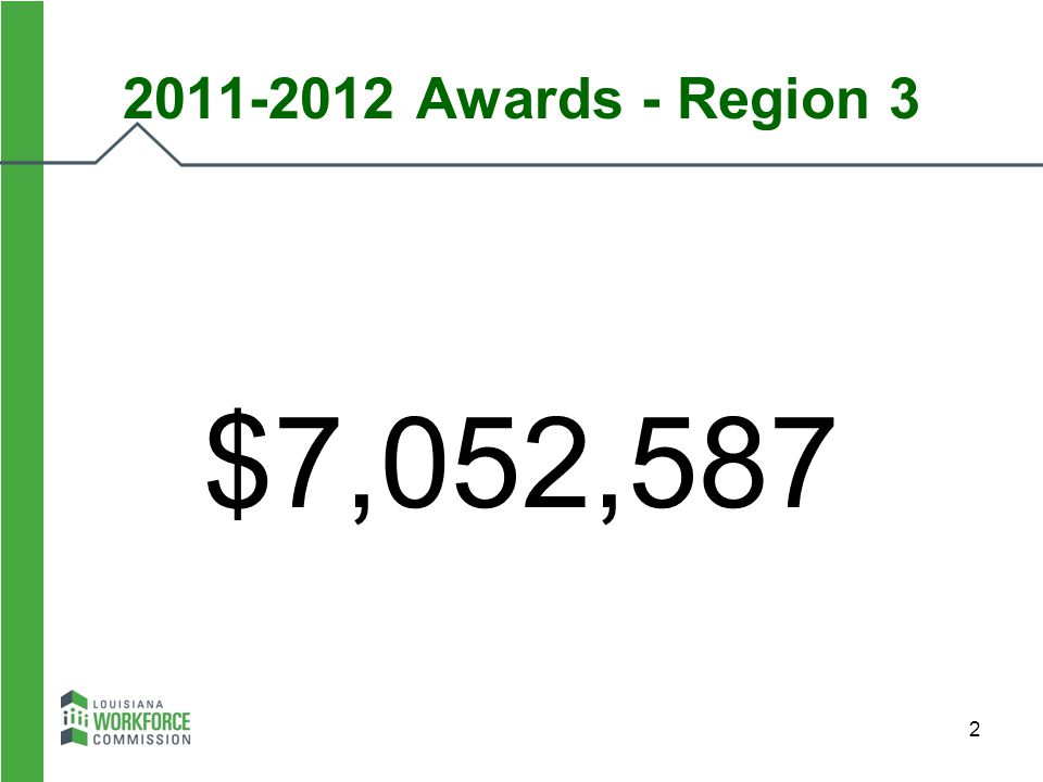 2011-2012 Awards - Region 3 $7,052,587