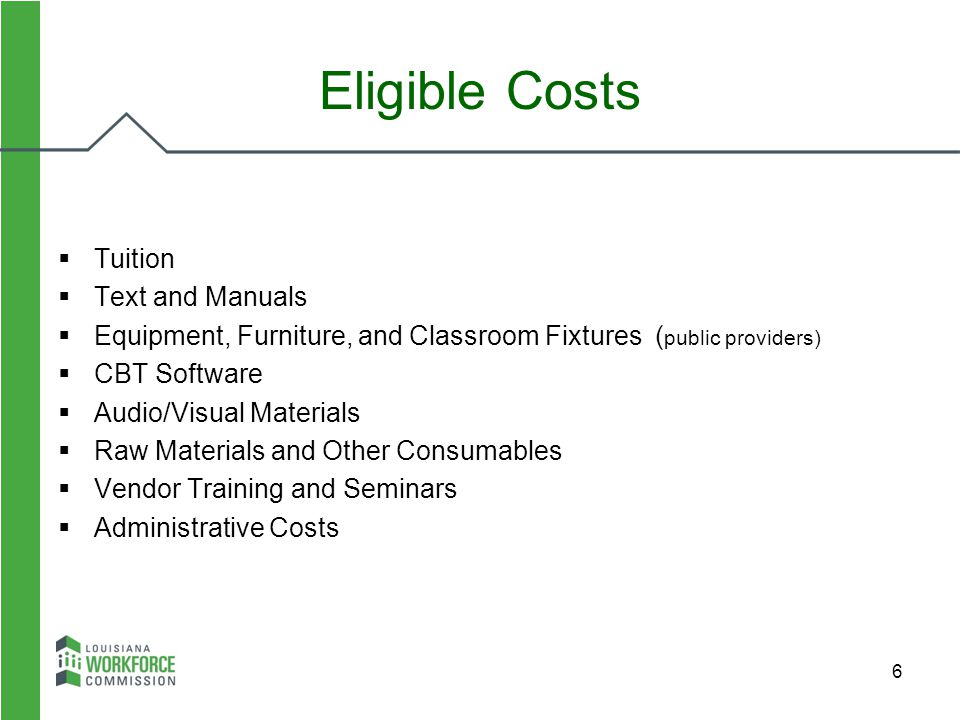 Eligible Costs Tuition Text and Manuals