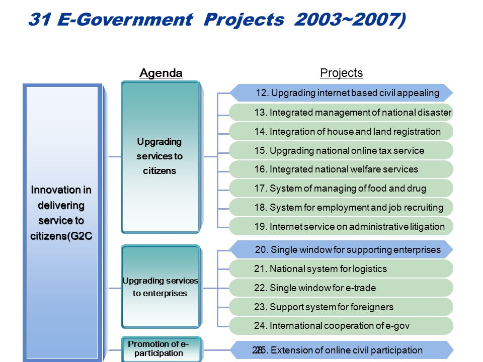 31 E-Government Projects 2003~2007)