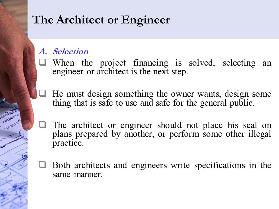The Architect or Engineer