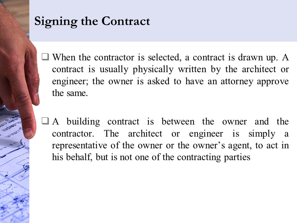 Signing the Contract