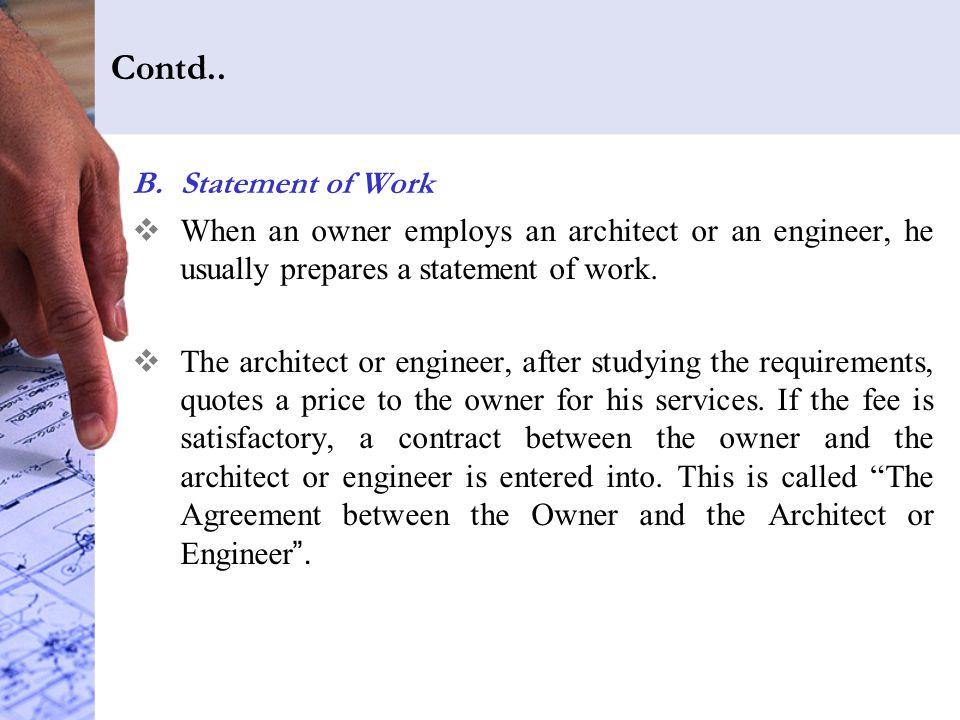 Contd.. Statement of Work