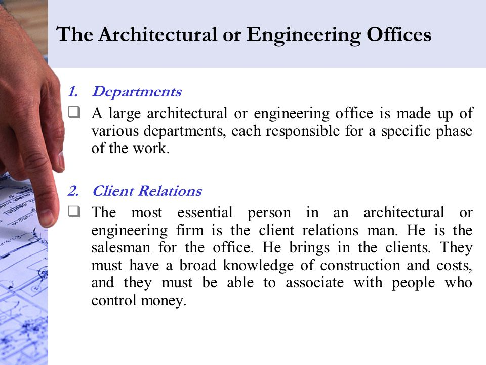 The Architectural or Engineering Offices