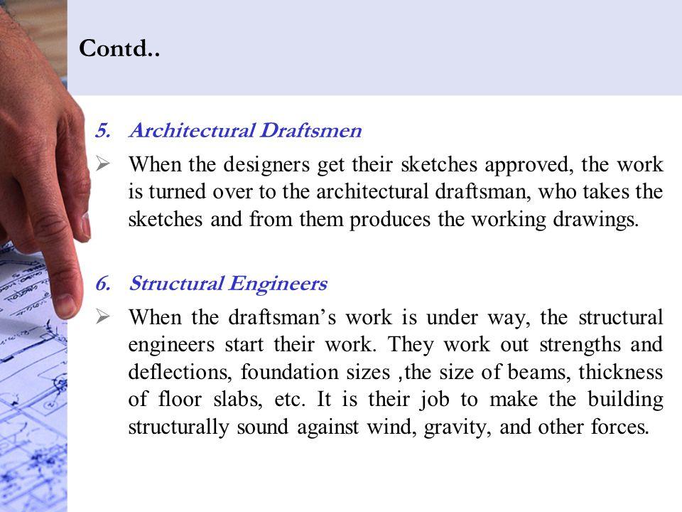 Contd.. Architectural Draftsmen