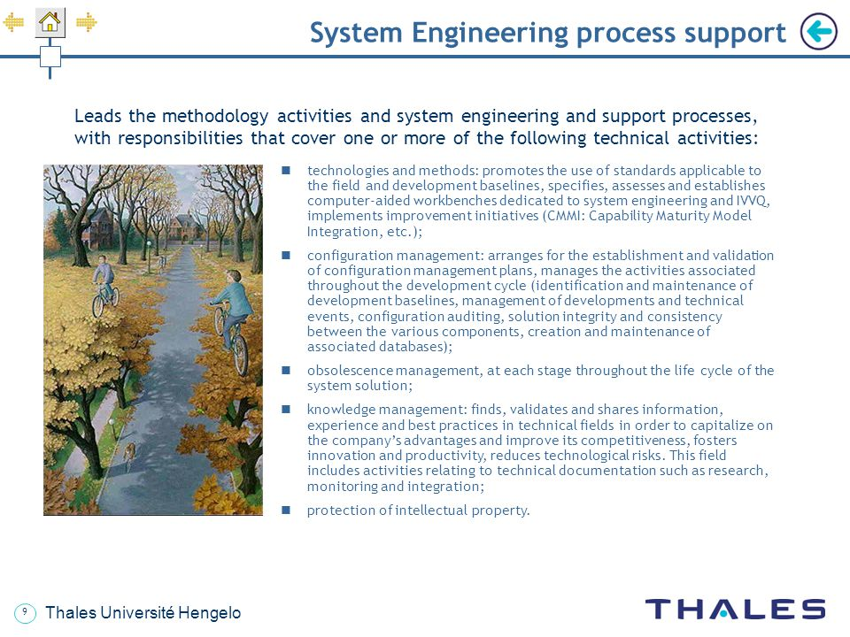 System Engineering process support