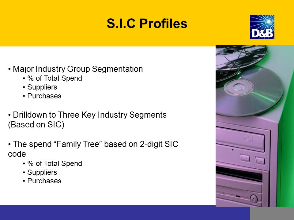 S.I.C Profiles Major Industry Group Segmentation