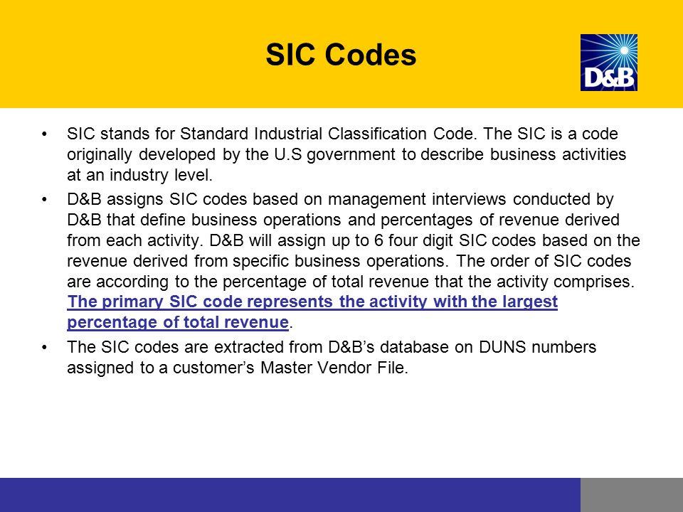 SIC Codes