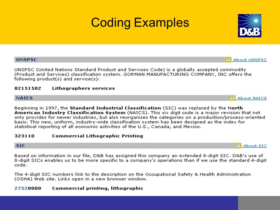 Coding Examples Coding Examples