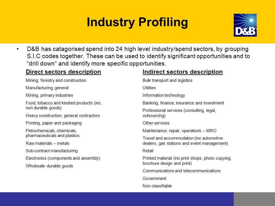 Industry Profiling