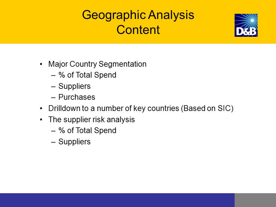 Geographic Analysis Content