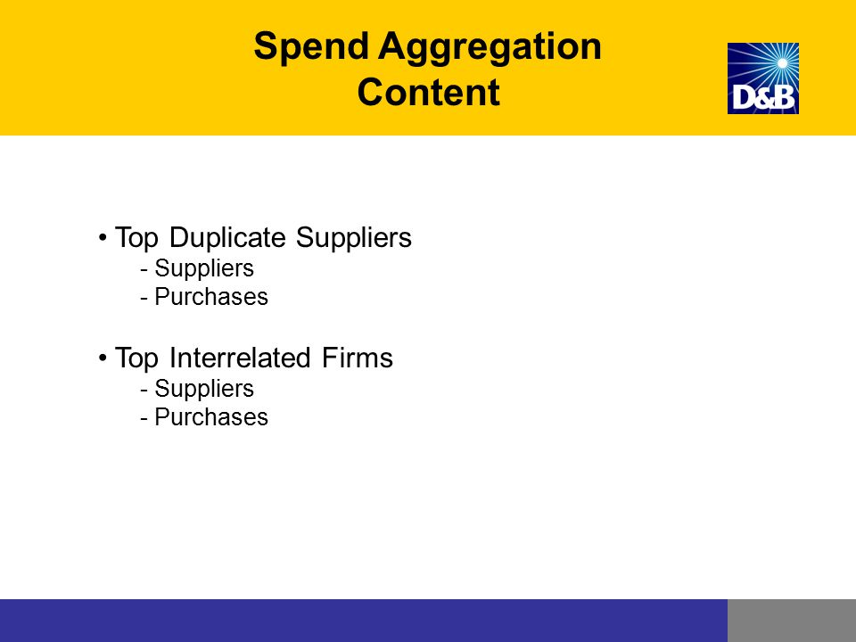 Spend Aggregation Content