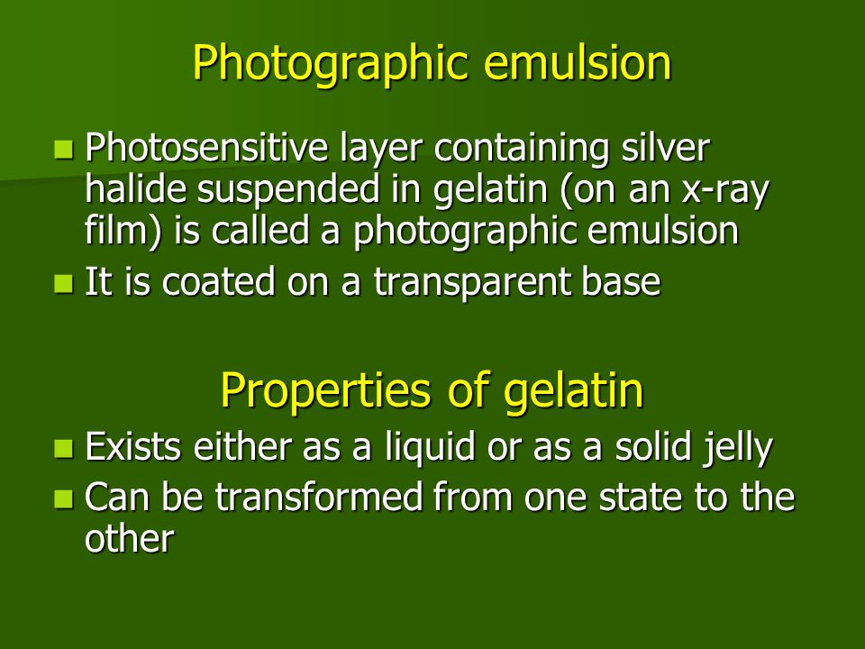 Photographic emulsion