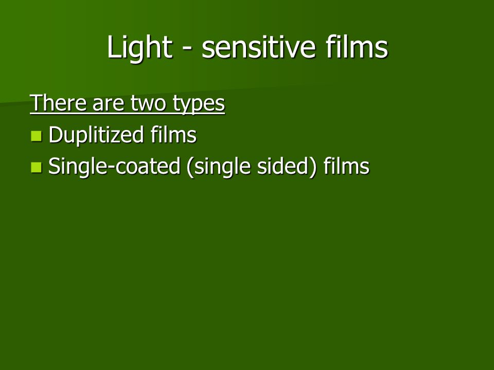 Light - sensitive films