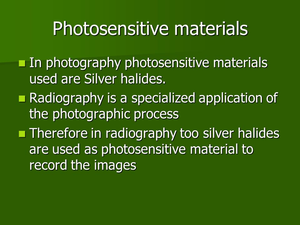 Photosensitive materials